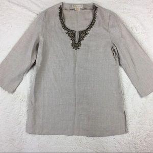 Michael kors linen tunic size 6